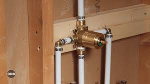 Plumbing Rough Diy How To Install Copper To Pex Shower And Bath Plumbing Youtube