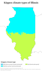 Map Of Wisconsin And Illinois by Climate Of Illinois Wikipedia