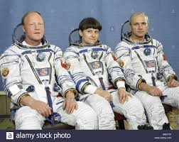 the crew of the soyuz t12 spacecraft vladimir dzhanibekov right