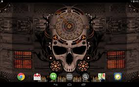 halloween hd live wallpaper steampunk clock live wallpaper android apps on google play