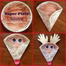 christmas kids craft paper plate reindeer christmas u0026 winter