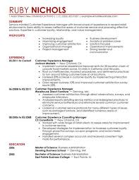 Customer Services Resume Sample by Best Customer Experience Manager Resume Example Livecareer