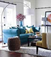 Blue Livingroom Gray Teal And Yellow Color Scheme Decor Inspiration
