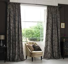 decorations marvelous floral patterned window curtain with