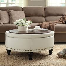 ottomans bedroom storage ottoman bench round tufted storage