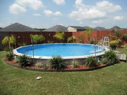 matchless landscaping around above ground pools pictures with tall
