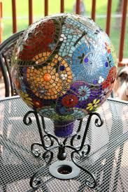 Gazing Ball Fountain 215 Best Mosaic Gazing Balls Images On Pinterest Mosaic Ideas
