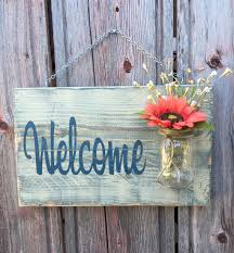 Personalized Signs For Home Decorating Nice Rustic Outdoor Welcome Sign In Red Wood Signs Front Door