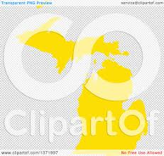 Us Map Michigan by Clipart Of A Yellow Silhouetted Map Shape Of The State Of Michigan