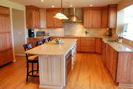 kitchen white cabinets brown wood floor decor for l shaped