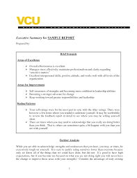Executive Summary Resume Example Template Brief Format