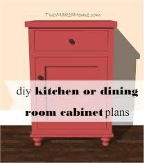 kitchen or dining room storage cabinet free diy furniture plan