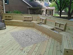 Plans To Build A Storage Bench by Deck Plan With Built In Benches For Seating And Storage Free