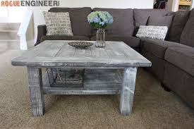Free Woodworking Plans Round Coffee Table by Square Coffee Table W Planked Top Free Diy Plans