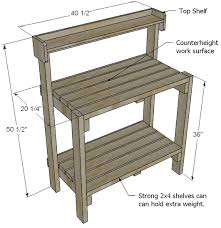 Basic Wood Bench Plans by Ana White Build A Simple Potting Bench Free And Easy Diy