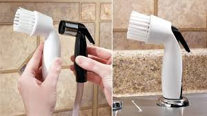 Clever Gadgets This Clever Spray Scrubber Almost Makes Up For Not Having A
