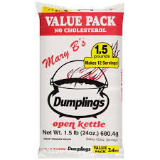 mary b u0027s open kettle dumplings 1 5 lb bag walmart com