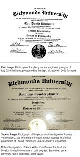 Aajonus Vonderplanitz PhD  key informant in prosecution of Sharon     Same university name     Same  quot Doctor of Philosophy quot  PhD     Same university seal     Same signature of  quot Anne Wallace quot  as  quot Dean of the Graduate Division  quot