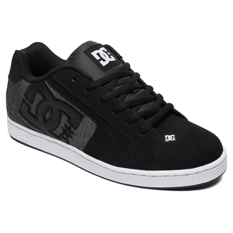 DC Net SE 302297 Black Nubuck Lace Up Athletic Skate Shoes