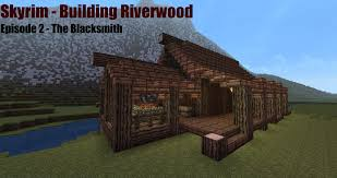 Smith Built Shed by Minecraft Blacksmith Tutorial Skyrim Building Riverwood