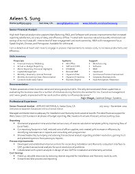 Financial Resume Sample by Financial Analyst Resume Sample Resume For Your Job Application