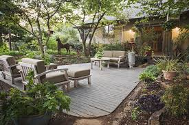 L Shaped Towhnome Courtyards Types Of Decks To Build For Any Space On Your Property
