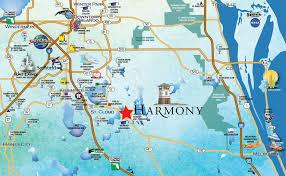 Orlando Florida On Map by Location Harmony Fl