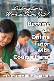 Tutoring Job Resume Home Based Online Tutor Jobs With Course Hero Work At Home Mom