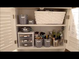 How To Choose A Bathroom Vanity by Budget Makeup Organization How To Organize Your Bathroom Youtube