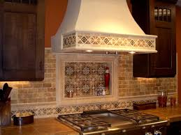 clever brown countertop tile design with stove top feat fancy kitchen backsplash also dark toned cabinet paint jpg