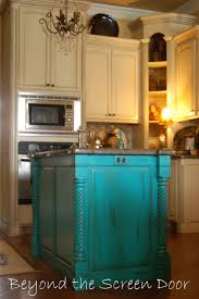 best 10 turquoise kitchen cabinets ideas on pinterest turquoise i love the idea of the white or cream cabinets and then an island in the