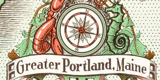 Map Of Portland Maine by Old Map Of Portland Maine From 1948 With Illustrations