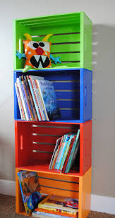 Kids Room Bookcase by Diy Bookshelf Made From Crates Wooden Crates Crates And Book