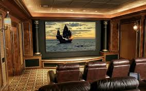 luxury home theater home theater in luxury house with large tv screen stock photo