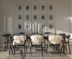 framed art set dining room contemporary with white candlesticks
