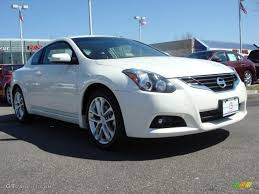 nissan altima coupe in snow 2011 winter frost white nissan altima 3 5 sr coupe 46869892
