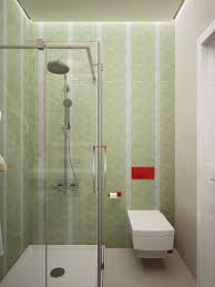 small minimalist bathroom designs decorated with variety of modern green tile bathroom design