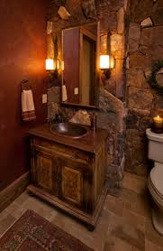wonderful rustic bathroom lighting ideas in home decorating plan