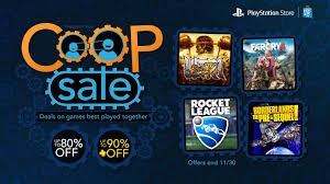 psn card black friday co op sale up to 80 off borderlands rocket league and more