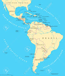 Map Of The South America by Map Of Central And South America Political Map Of El Salvador