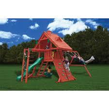 Cedar Playsets Amazon Com Gorilla Playsets Sun Palace Ii With Monkey Bars