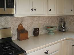 Backsplash Kitchen Photos Cream Herringbone Stone Mosaic Tile Stone Mosaic Kitchen