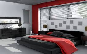 Spectacular Red White And Black Bedroom Designs  For Home - Black bedroom designs