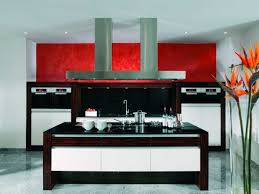 Red And Black Kitchen Ideas Red And Black Kitchen Accessories Rectangular Elegant Duco Glosy