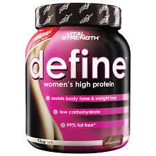 Buy VitalStrength Define Women     s high protein  kg Chocolate Online