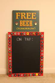 Homebrew Kegerator Custom On Tap Chalkboard Sign Homebrewing