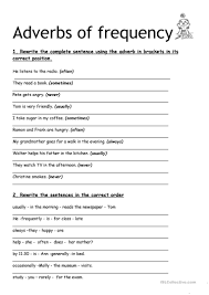 106 free esl adverbs of frequency worksheets