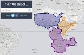 Peters Projection World Map by The True Size Of
