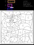coloriage magique chat : dessin chat | coloriage magique