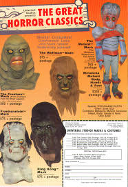 Monster Halloween List by Halloween Masks Branded In The 80s